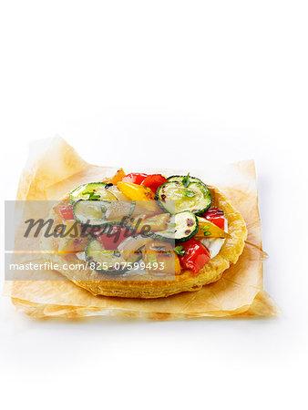 Grilled vegetable savoury tart