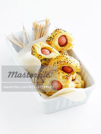 Sausage flaky pastry bites