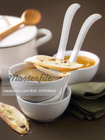 Cream of organic carrot soup