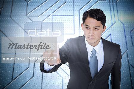 Data against circuit board on futuristic background