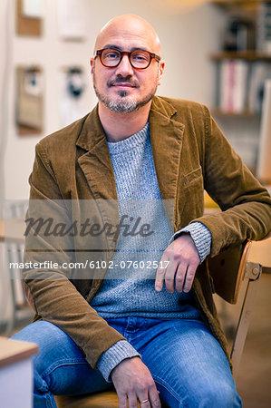 Mature man in office, Gothenburg, Sweden