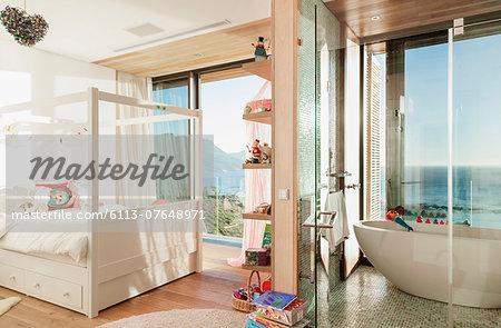 Child's bedroom with en suite bathroom