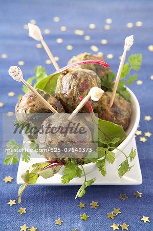 Foie gras meatballs