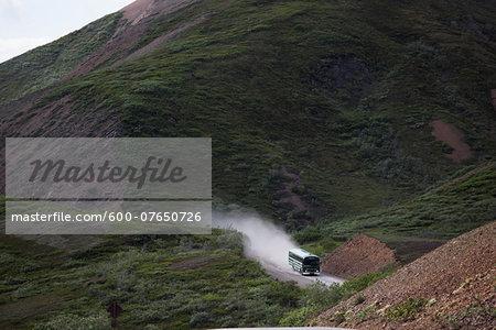 National Park Service Tour Bus, Denali National Park, Alaska, USA