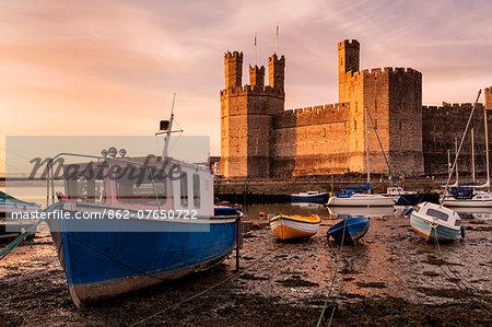 Europe, United Kingdom, Wales, Caernarfon Castle