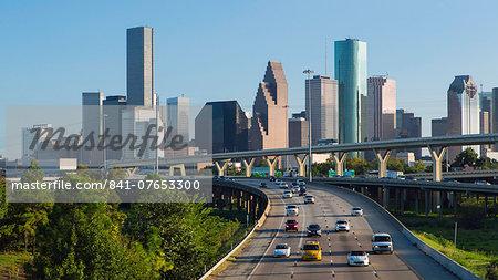 City skyline, Houston, Texas, United States of America, North America