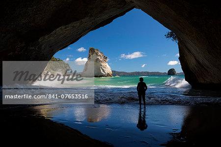 Cathedral Cove, Hahei, Coromandel Peninsula, Waikato, North Island, New Zealand, Pacific
