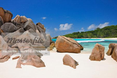 Boulders on Anse Cocos Beach, La Digue, Seychelles
