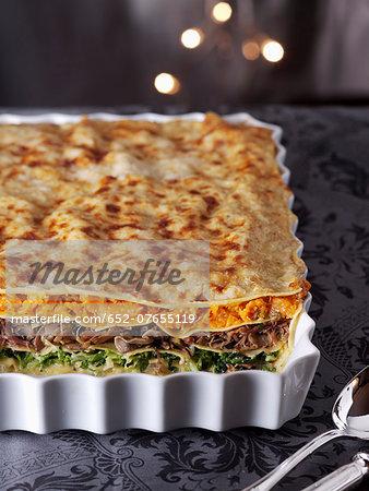 Three vegetable lasagnes