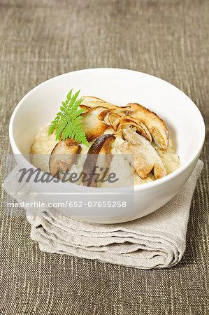 Carnaroli superfino rice risotto with ceps