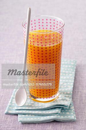 Glass of apricot juice