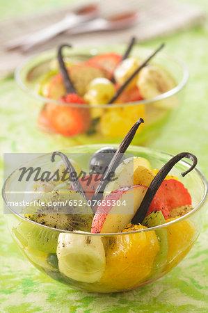 Vanilla-flavored fruit salad