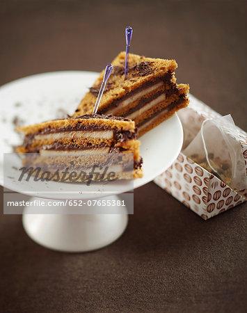 Chocolate and pear gingerbread club sandwich