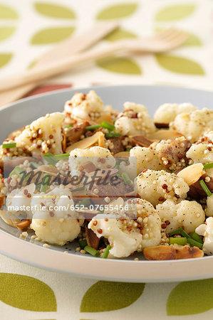 Cauliflower and quinoa salad with almonds
