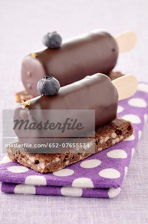 Chocolate ice cream bar desserts