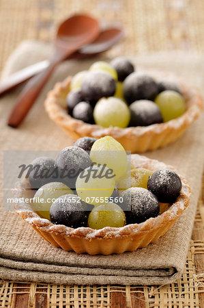 Grape tartlet