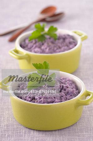Purple potato mash
