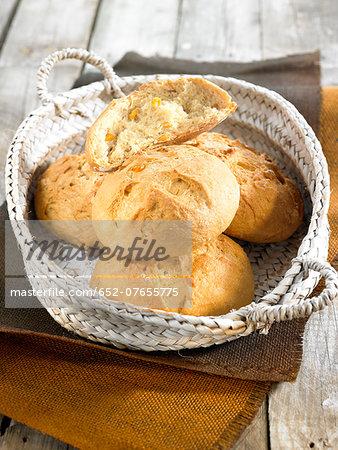 Sweetcorn bread buns