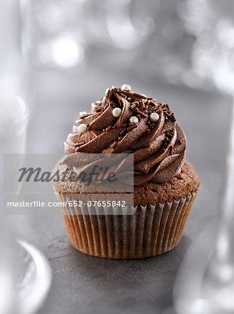 Dark chocolate cupcake