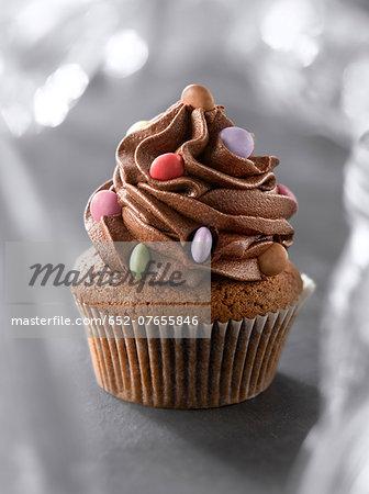 Chocolate and Smarties cupcakes