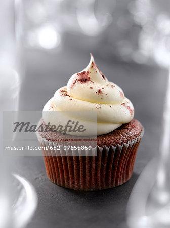 Red velvet-style cupcake