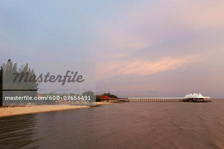 Sunset and Pier, Kuala Perlis, Perlis, Malaysia