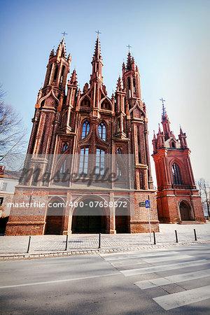 St. Anne's Church and Bernardine Monastery in Vilnius, Lithuania.