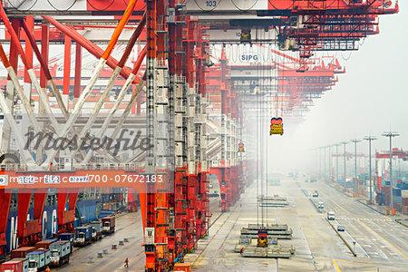 Yangshan Deep-Water Port, near Shanghai, Zhonghua, Hangzhou Bay, China