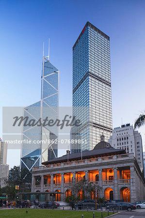 Legislative Council Building, Bank of China and Cheung Kong Centre, Central, Hong Kong, China