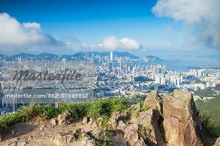 View of Kowloon and Hong Kong Island from Lion Rock, Hong Kong