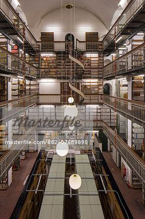 Denmark, Hillerod, Copenhagen. The Hansen Building in the Royal Library.