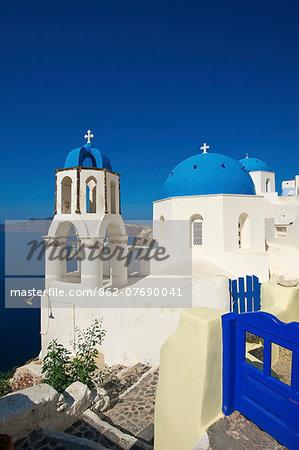 Chapel in Oia, Santorini, Cyclades, Greece
