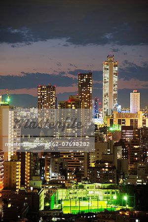 Asia, Japan, Honshu, Tokyo, Ikebukuro, city skyline