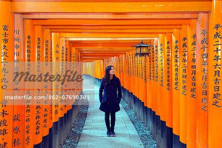 Asia, Japan, Honshu, Kyoto, Fushimi Inari Jinja, Unesco