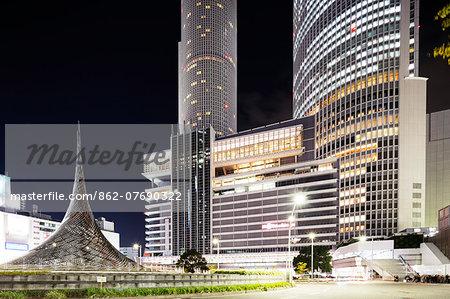 Asia, Japan, Honshu, Nagoya train station building