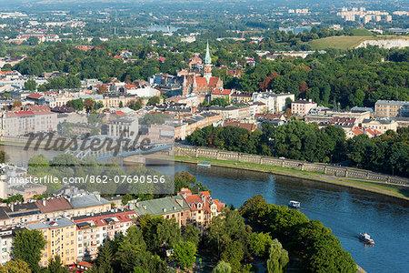 Europe, Poland, Malopolska, Krakow, Vistula River, Unesco site
