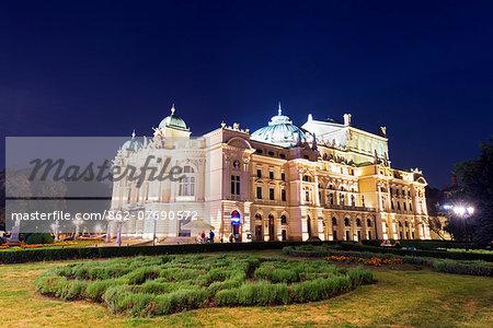 Europe, Poland, Malopolska, Krakow, Slowackiego Theatre, Unesco site