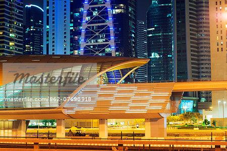 Middle East, United Arab Emirates, Dubai, Metro station