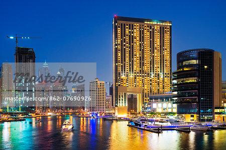 Middle East, United Arab Emirates, Dubai, Dubai Marina buildings