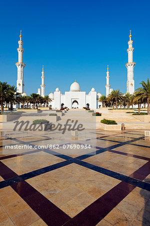 Middle East, United Arab Emirates, Abu Dhabi, Sheikh Zayed Grand Mosque