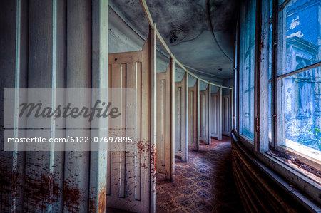 Decayed interior of Lahmann Sanatorium, Dresden, Germany