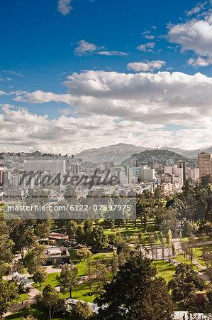 Elevated view of Quito, Ecuador