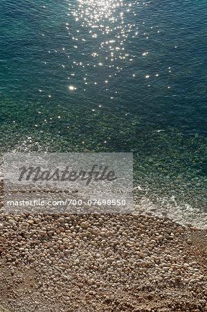 Close-up of Playa Cala Llonga, Santa Eulalia, Ibiza, Balearic Islands, Spain, Mediterranean, Europe