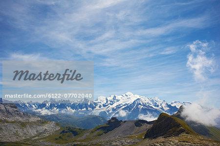Mountains in rocky landscape