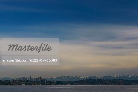 Seattle city skyline on water