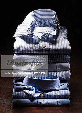 Stack of Shirts, Studio Shot