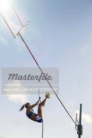 Pole jumper approaching bar