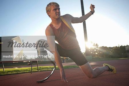 Sprinter stretching