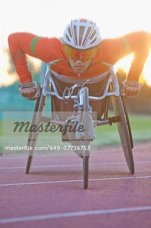 Athlete in para-athletic training