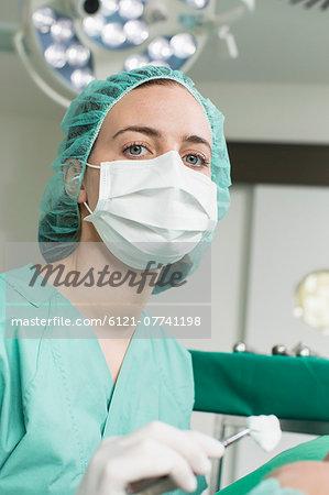 Female surgeon in hospital